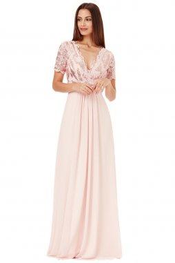 Nadčasové společenské krajkové šaty levně  bce54d976a