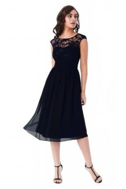 Luxusní společenské šaty Floretta II černé