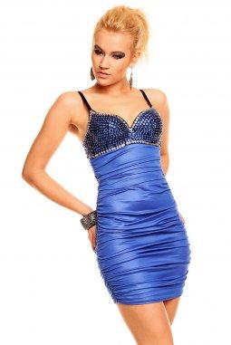 Společenské šaty Miranda modré