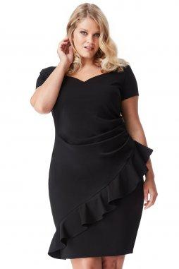 Společenské šaty pro plnoštíhlé Maudine černé