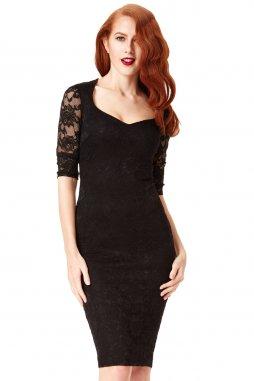 Společenské krajkové šaty Glenda černé