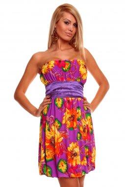 Šaty Pamela žluto-fialové