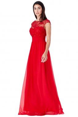 Luxusní společenské šaty pro plnoštíhlé Floretta červene