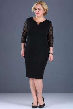 Společenské šaty pro plnoštíhlé Mignon černé