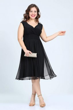 Společenské šaty pro plnoštíhlé Milly černé