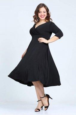 Společenské šaty pro plnoštíhlé Cassidy černé