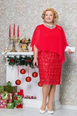 99aca455e47 Luxusní společenské šaty pro plnoštíhlé Petronia červené