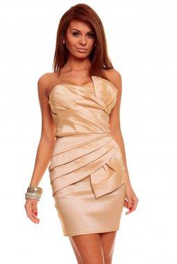 Společenské šaty Natalie béžové