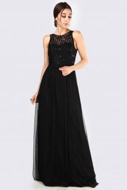 Společenské šaty Ambra černé dlouhé