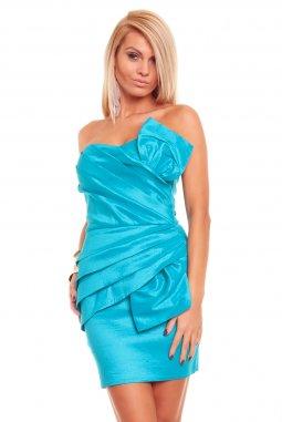 Společenské šaty Natalie tyrkysové