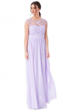 Luxusní společenské šaty Floretta levandulové