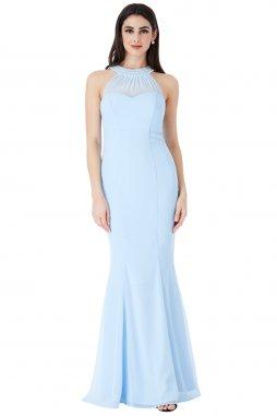Dlouhé plesové šaty Florida světle modré