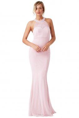 Dlouhé plesové šaty Florida světle růžové