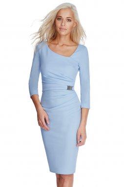 Společenské šaty Desirae světle modré
