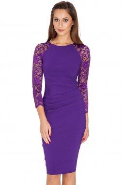 Společenské šaty Selma fialové