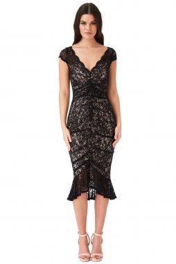 Koktejlové šaty Noelle černé