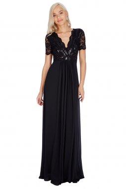 Luxusní společenské šaty Tiffanie černé
