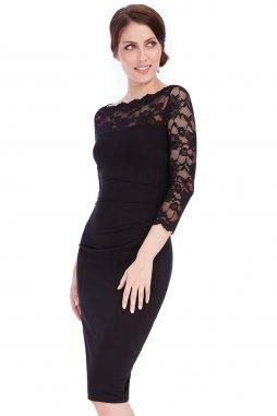 Společenské šaty Queen černé