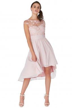 Luxusní společenské šaty Floretta III světle růžové