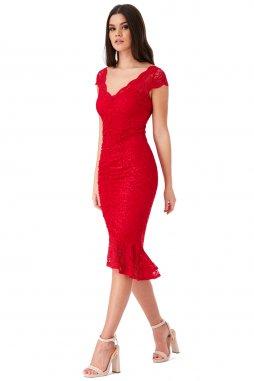 Koktejlové šaty Noelle červené