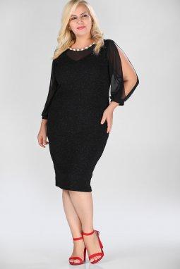 Společenské šaty pro plnoštíhlé Tosha černé