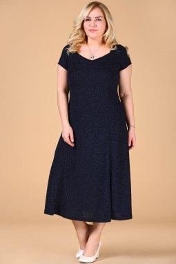 Společenské šaty pro plnoštíhlé Trinity tmavě modré