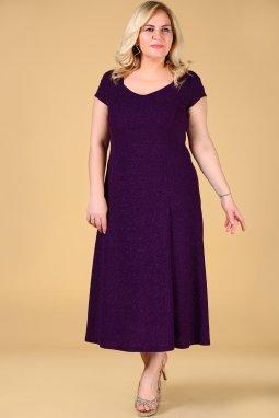 Společenské šaty pro plnoštíhlé Trinity fialové