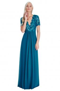 Luxusní společenské šaty Tiffanie petrolejové 924aa7a255