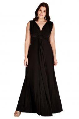 Plesové šaty pro plnoštíhlé Domenica černé