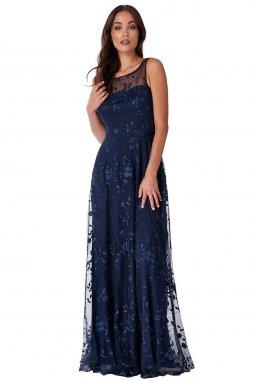 Společenské šaty Naomi tmavě modré dlouhé