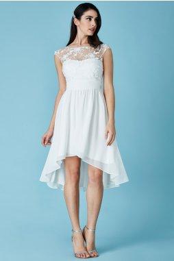 Luxusní společenské šaty Floretta III bílé