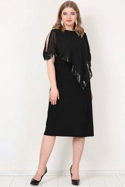561723ad3c5a Společenské šaty pro plnoštíhlé Cassandra II černé