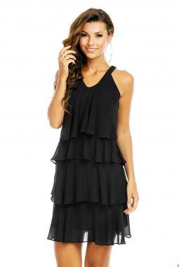 Společenské šaty Azalea černé detail