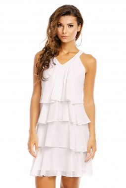 Společenské šaty Azalea bílé detail