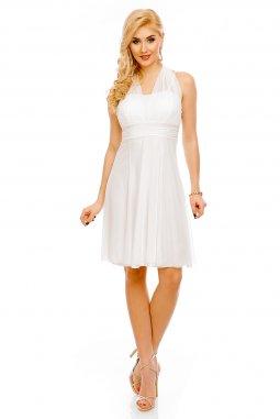 Koktejlové šaty Paolina bílé