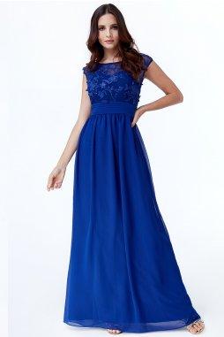 Luxusní společenské šaty Floretta I modré
