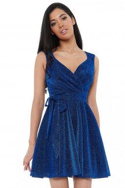 Luxusní společenské šaty Roxanna II modré