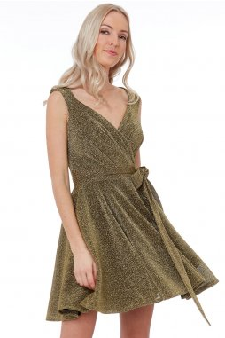 Luxusní společenské šaty Roxanna II zlaté