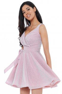 Luxusní společenské šaty Roxanna II světle růžové