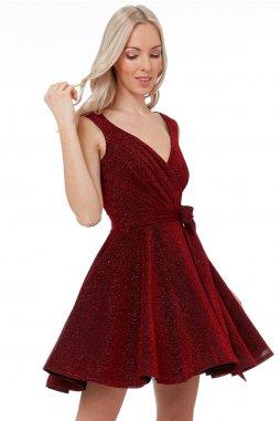 Luxusní společenské šaty Roxanna II vínově červené