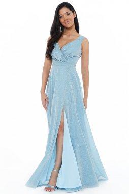 Luxusní společenské šaty Roxanna světle modré