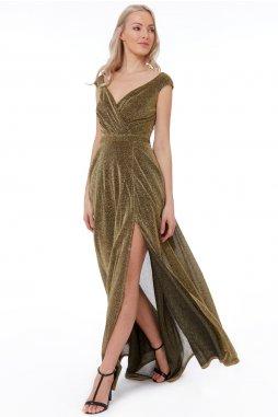 Luxusní společenské šaty Roxanna I zlaté