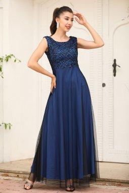 Společenské šaty Sherrie černo-modré