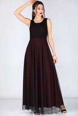 Společenské šaty Talia vínově červené