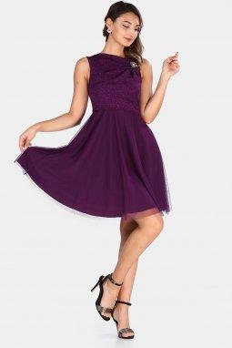 Společenské šaty Viva fialové