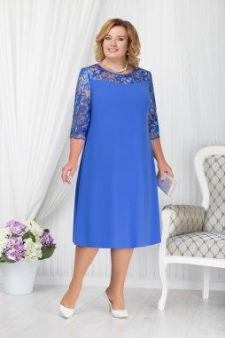 Luxusní společenské šaty pro plnoštíhlé Fabiola modré