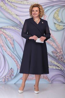 Luxusní společenské šaty pro plnoštíhlé Amaranta tmavě modré