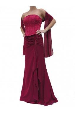 Dynasty luxusní společenské šaty Dominique vínově červené s šálou 8c61b84d6b