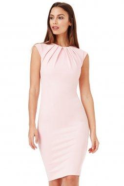 Společenské šaty Haydee světle růžové