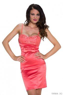 Koktejlové šaty Latoya lososové